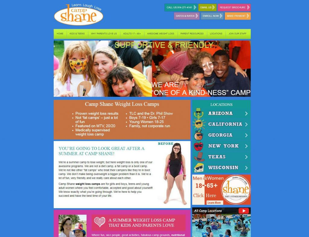 Camp Shane Website